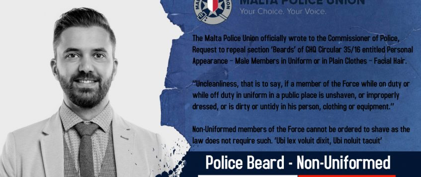 Letter to the Commissioner of Police to amend GHQ Circular re Beard